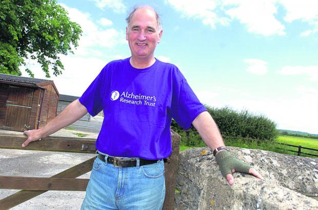 This Is Wiltshire: Jamie Graham and wife Vicki have raised more than £190,000 for Alzheimer's Research UK