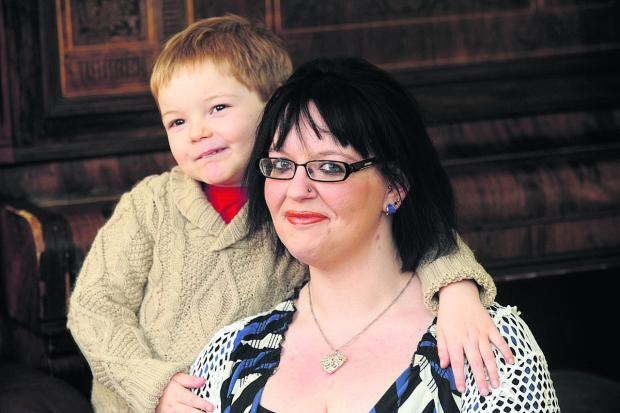 This Is Wiltshire: Alexandra Haynes with her five-year-old son Will.