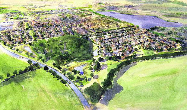 This Is Wiltshire: An artist's impression of the new Lay Wood estate