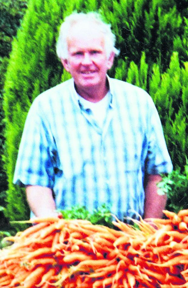 This Is Wiltshire: Market gardener Roger Hayward who died last night