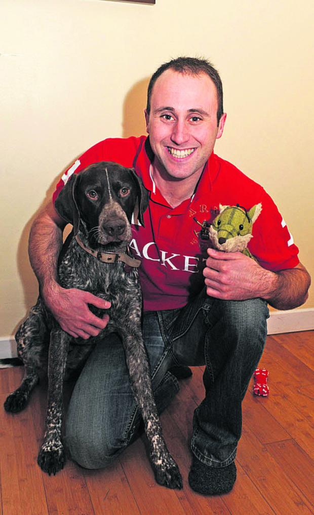 This Is Wiltshire: Ashley Russell and Oliver the pointer
