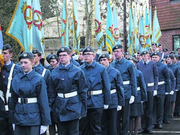 This Is Wiltshire: Air Cadets parade through Marlborough's High Street