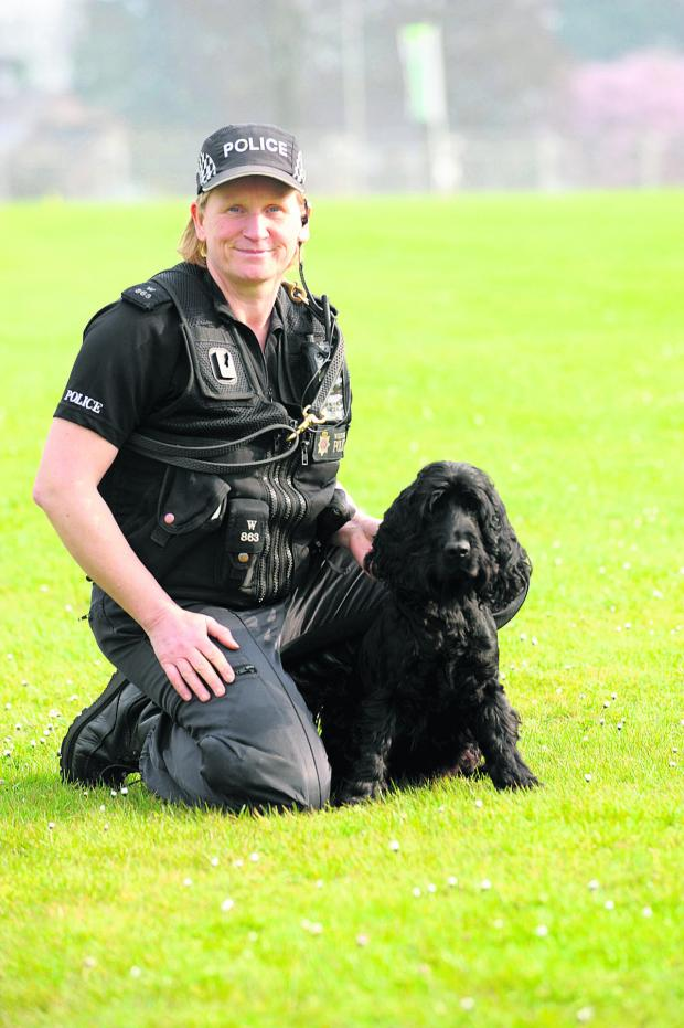This Is Wiltshire: Griffin with PC Marie Poole