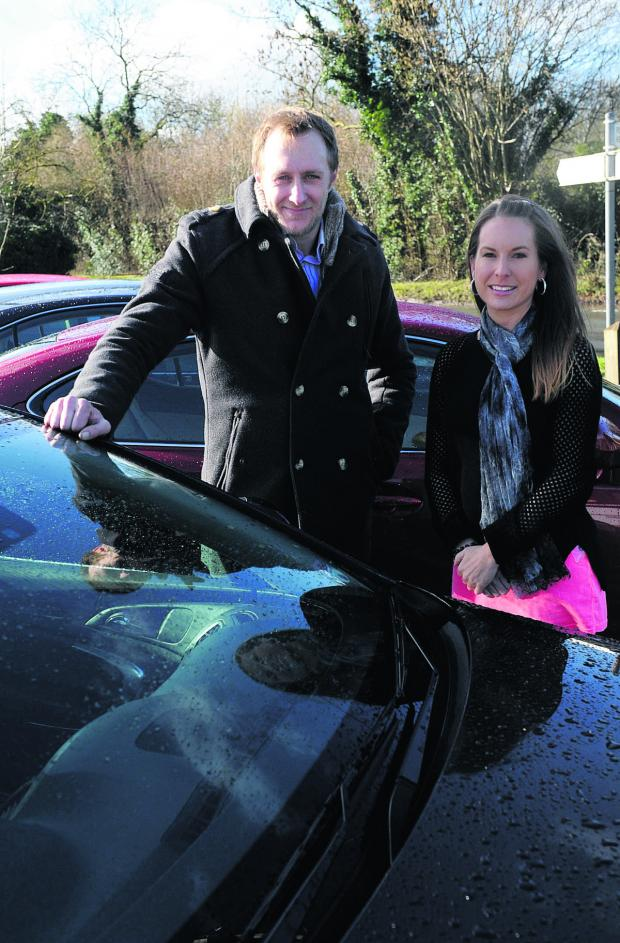 This Is Wiltshire: Richard King from Clearwater Vehicles at Poole Keynes, who is giving away a car as part of RAK, after being nominated by Amy Slater