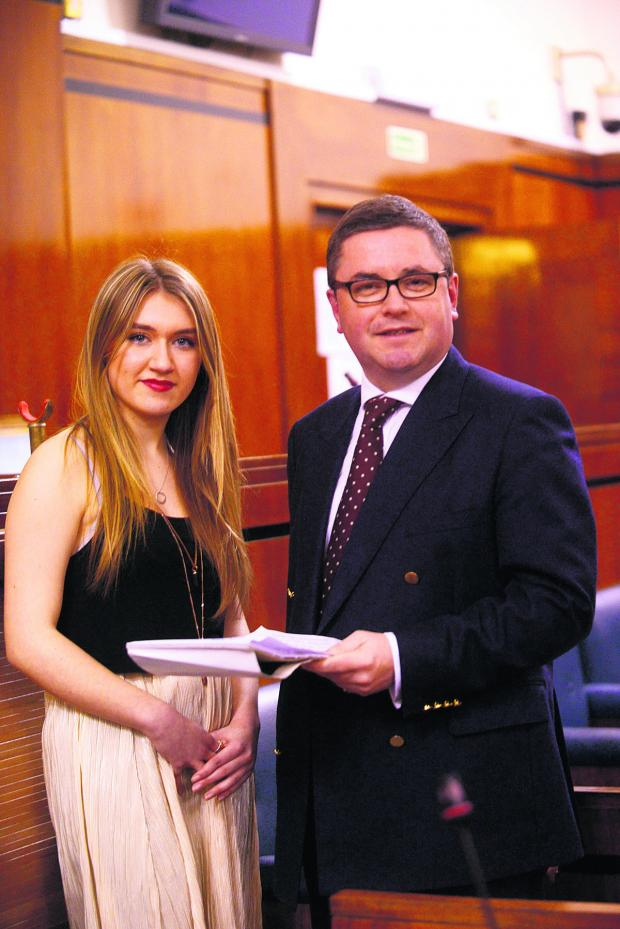 This Is Wiltshire: Ellie James, newly elected Member of the Youth Parliament for Swindon,with MP Robert Buckland
