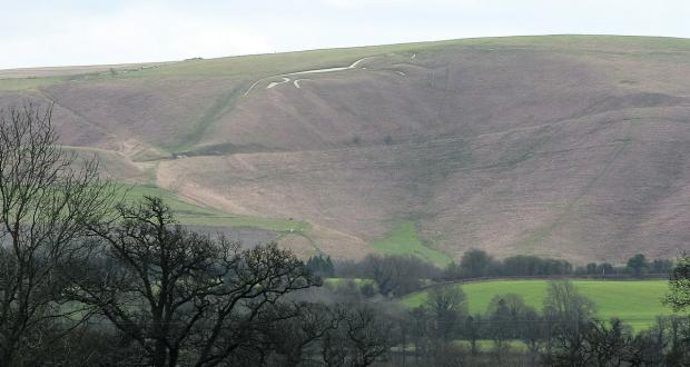 This Is Wiltshire: The white horse at Uffington