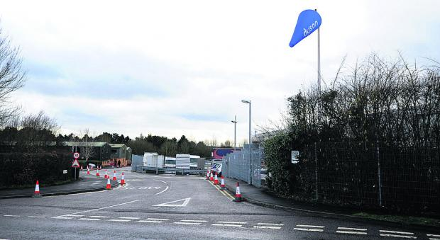 This Is Wiltshire: Cones put up to combat parking problems around the Dyson HQ
