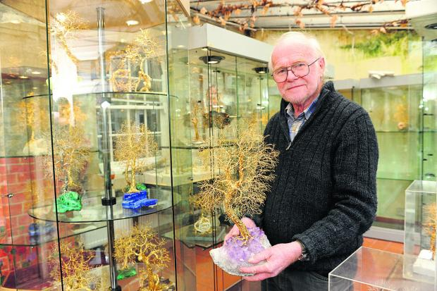 This Is Wiltshire: Pat Drinkwater with his tree pieces