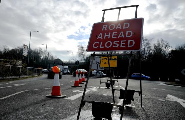 This Is Wiltshire: Roadworks could continue for a year around Bruce Street Bridges