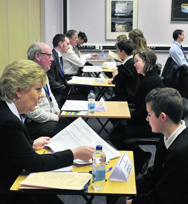 This Is Wiltshire: Mock interviews between busine