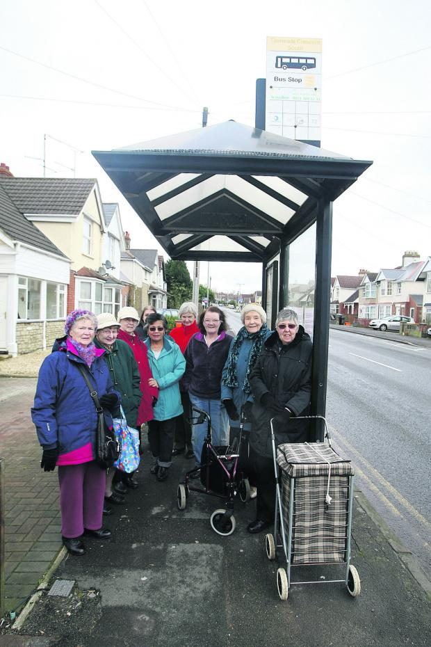 This Is Wiltshire: Croft Road residents are angry about the possible removable of the bus shelter