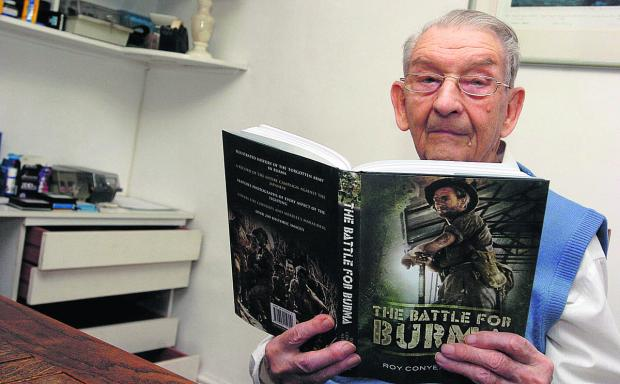 This Is Wiltshire: Author Roy Conyers Nesbit  with his book The Battle For Burma