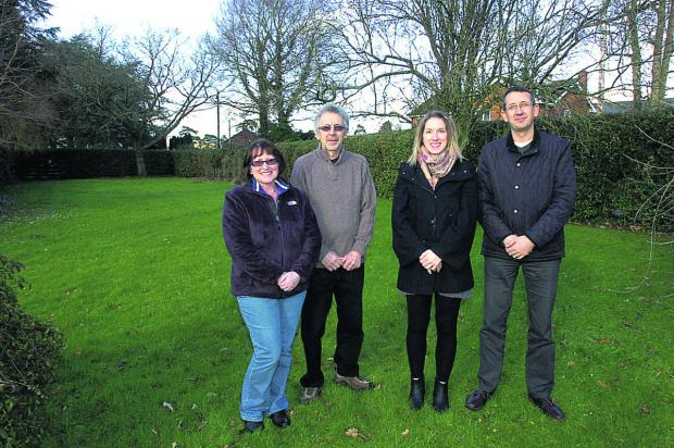 This Is Wiltshire: From left, Linda, Phillip and Sarah Dicker with planning consultant Richard Cosker                                                                     (PM1041) By PAUL MORRIS