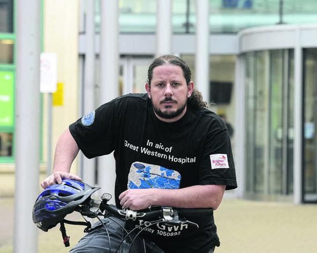 This Is Wiltshire: Daniel Cavender plans to ride from Rome to the Great Western Hospital to raise £9,000