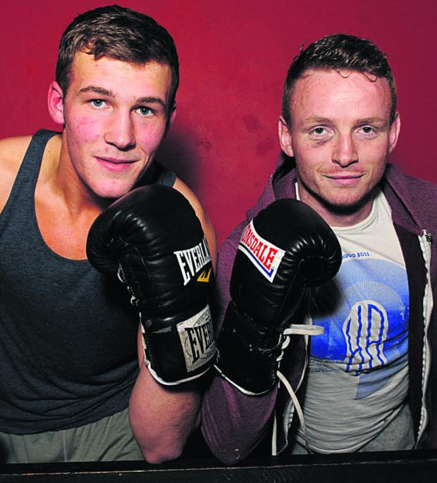 This Is Wiltshire: Dan Blackwell (left) and Dan Carr, pictured at the Contender Gym this week, have been nominated for a prize at the Southern Area awards