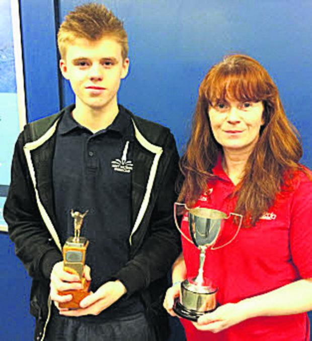 This Is Wiltshire: West Wilts Diving Club's Finn Aubrey and Melanie Sweetman