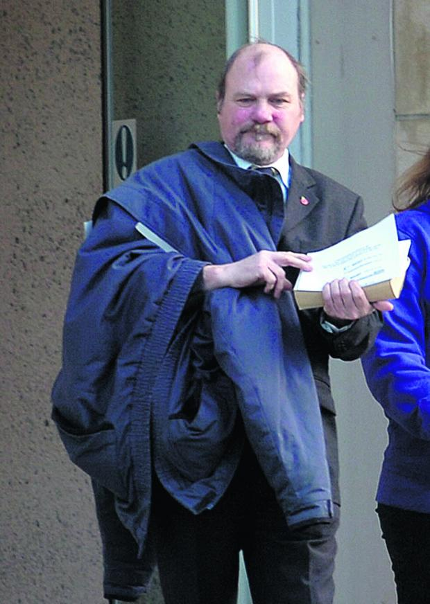 This Is Wiltshire: Bus driver David Papworth at court on Thursday