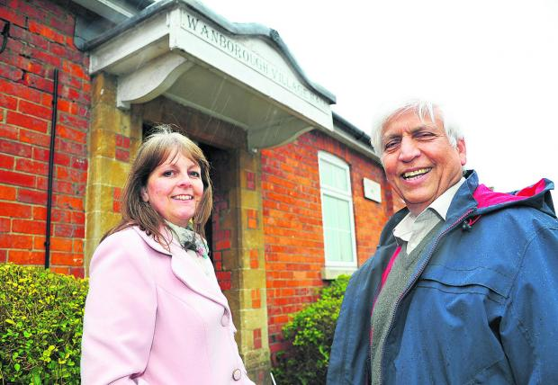 This Is Wiltshire: Mohammad Naseem and Diane Rendell outside Wanborough Village Hall