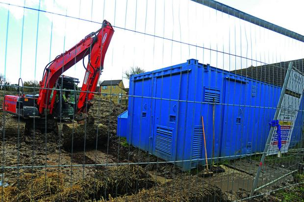 This Is Wiltshire: The building site at Stanley Close, Wanborough, where the skeleton was found
