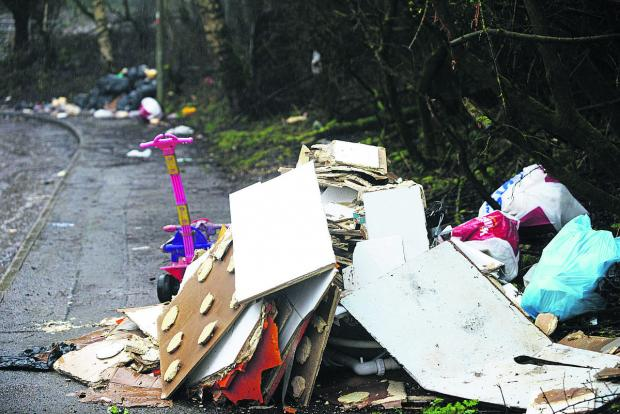This Is Wiltshire: The Council is refusing to clear up rampant fly tipping on Cheney Manor Trading Estate