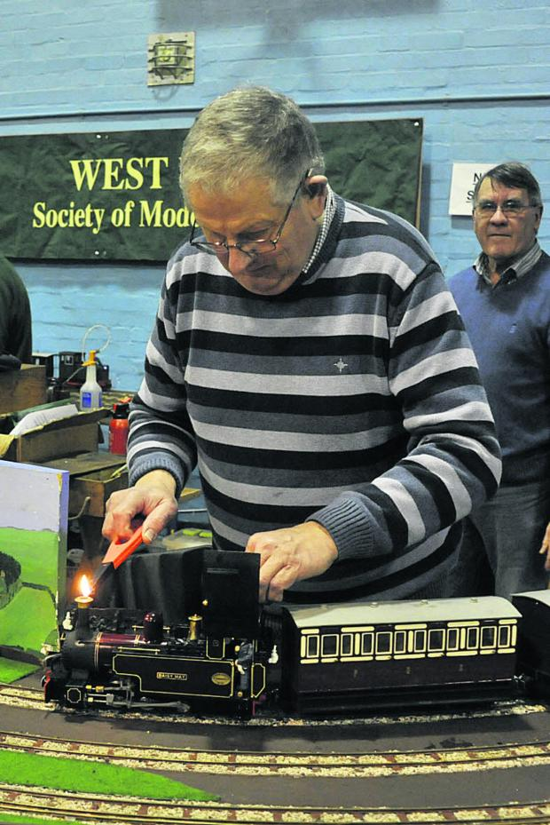 This Is Wiltshire: Peter Brougham fires up a boiler