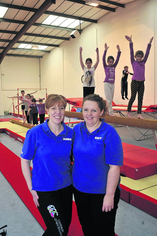 This Is Wiltshire: Coaches Janna Panter, left, and Suzy Creese at the Springboard Gymnastics Centre in Warminster                   Photo: Glenn Phillips (49149)