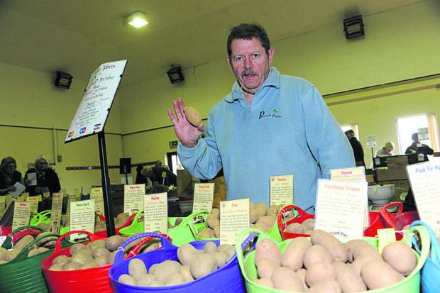 This Is Wiltshire: Chris Smith at Codford Potato Day and Seed Fair          Photo: Trevor Porter (48343)