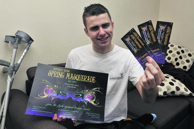 This Is Wiltshire: George Soars, 20, who is organising a masquerade ball in Wroughton in March for his charity