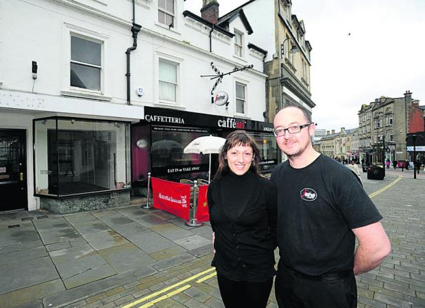 This Is Wiltshire: Federica Marconi and Matt Lewis, joint owners of Caffe Mi