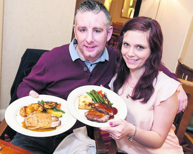 This Is Wiltshire: Win Your Wedding winners Daniel Harper and Leanne Warner menu tasting at the Marriot Hotel