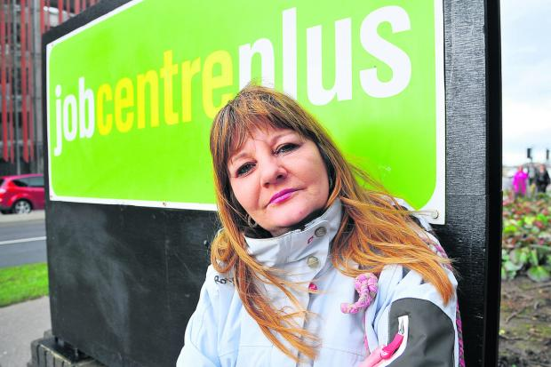 This Is Wiltshire: Karen Simpson, who claims Job Seekers' Allowance, at Swindon Job Centre Plus