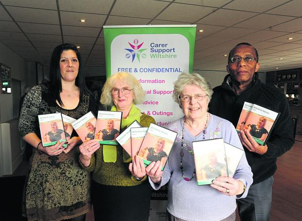 This Is Wiltshire: Carers who appear in the new Wiltshire Voices DVD Star Painter, Bev Conio, Margaret Greenman and Bob Selkridge