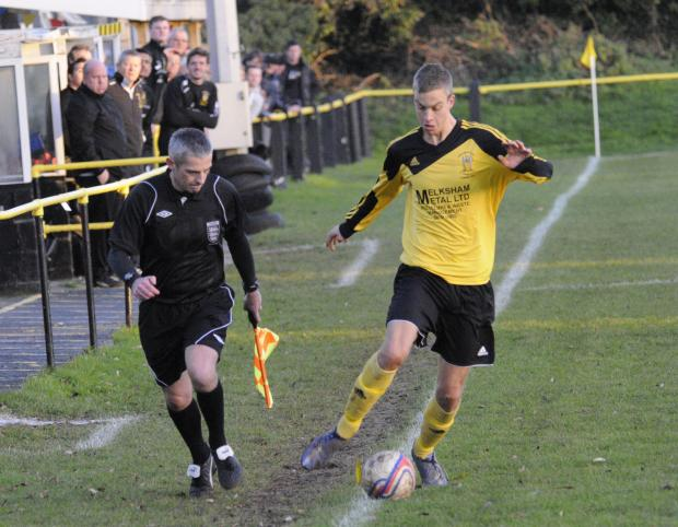 This Is Wiltshire: Gary Higdon was amongst the goals for Melksham Town last weekend