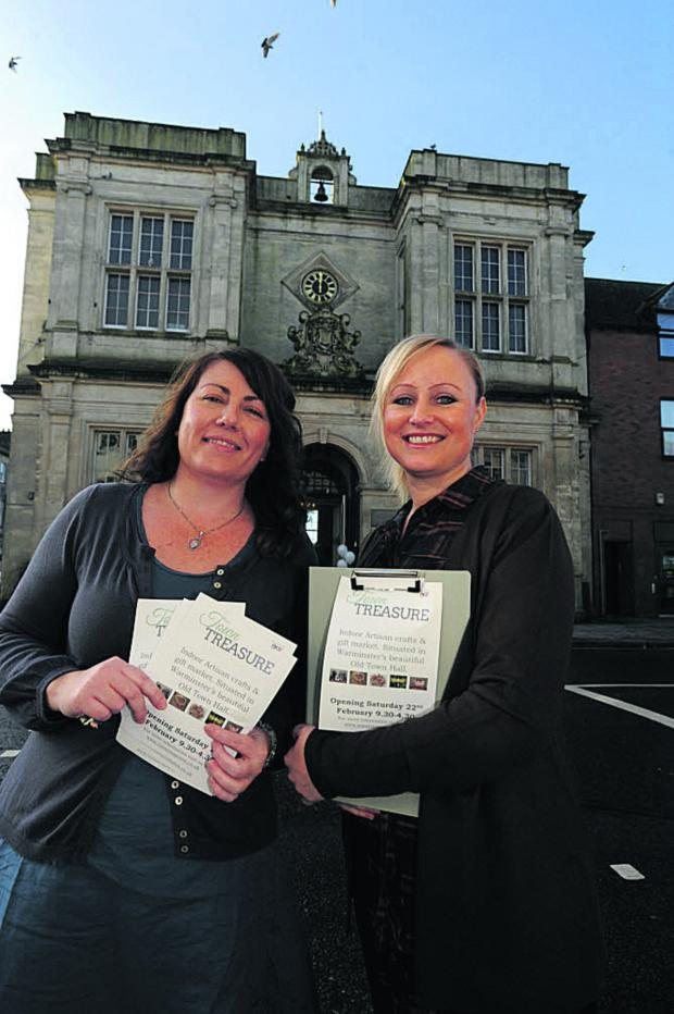 This Is Wiltshire: Stacey Henry and Sarah-Jayne Wright outside the Old Town Hall