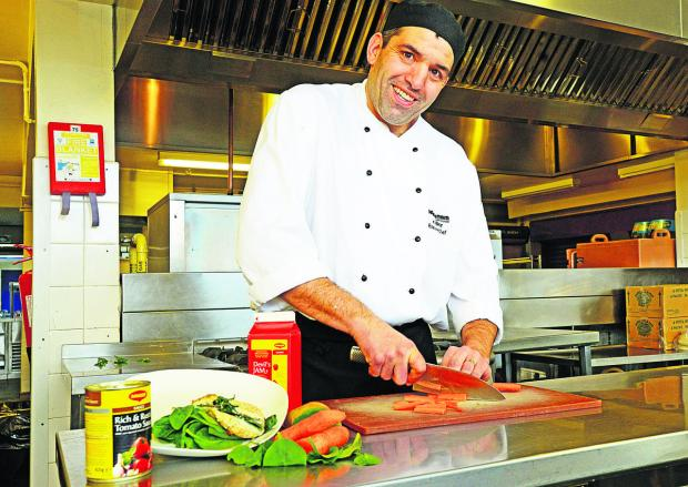 This Is Wiltshire: Ian Bevan has been shortlisted for the school chef of the year