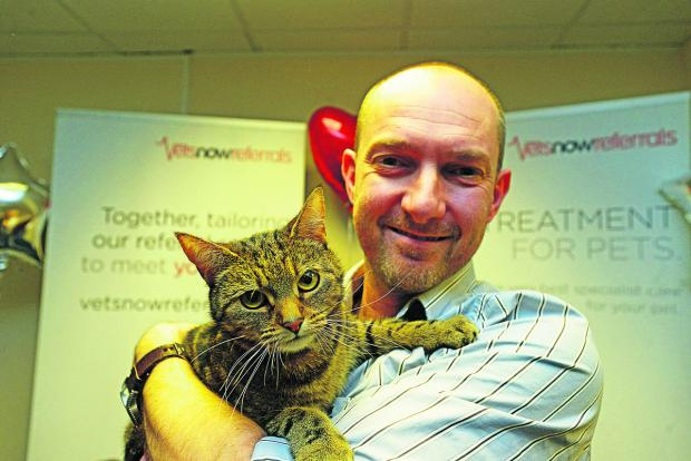 This Is Wiltshire: Neil Smith with Jasper the cat, the