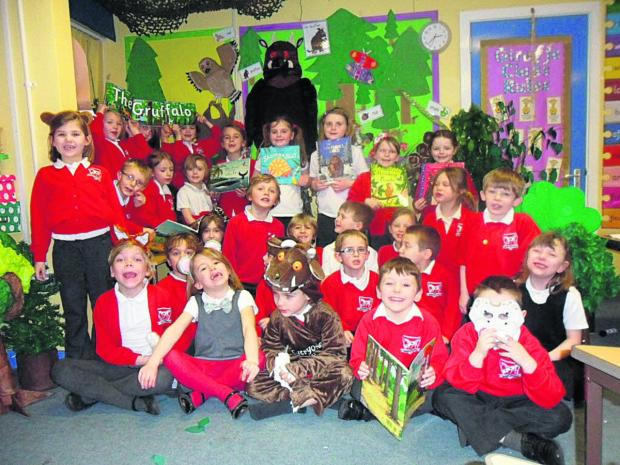 This Is Wiltshire: Pupils of the Key stage 1 class at Bratton School have been e