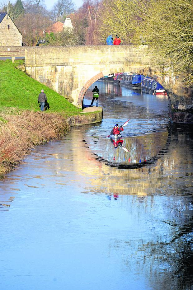 This Is Wiltshire: Competitors head off in chilly waters last year