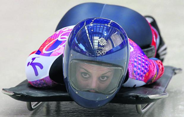This Is Wiltshire: Shelley Rudman in action at Sochi 2014