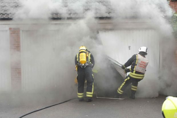 This Is Wiltshire: Firefighters dealing with the blaze