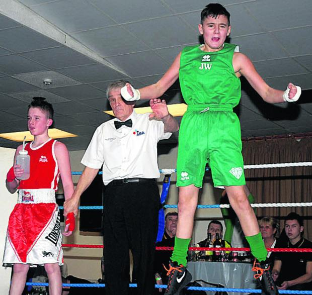 This Is Wiltshire: Johnny Ward celebrates his victory over Josh Field last weekend