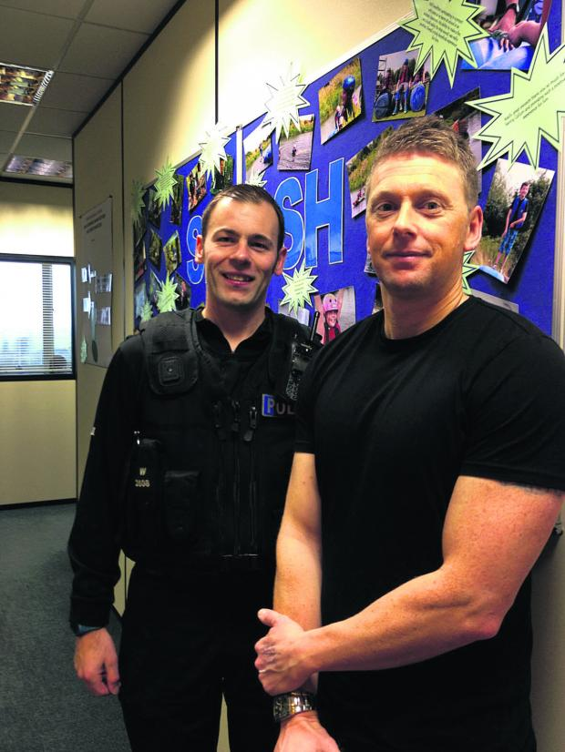 This Is Wiltshire: PCs Stuart Welch and Geoff Goodway are delighted to be supporting Splash