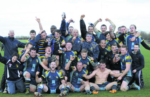 This Is Wiltshire: Trowbridge, celebrating last month's South West final win over Ivybridge