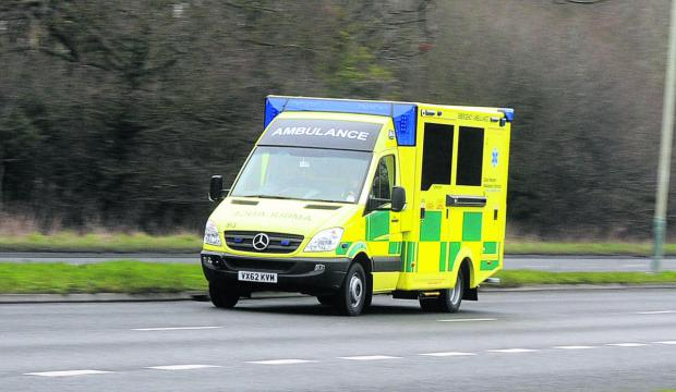 This Is Wiltshire: Passengers were taken by ambulance to Southmead Hospital in Bristol