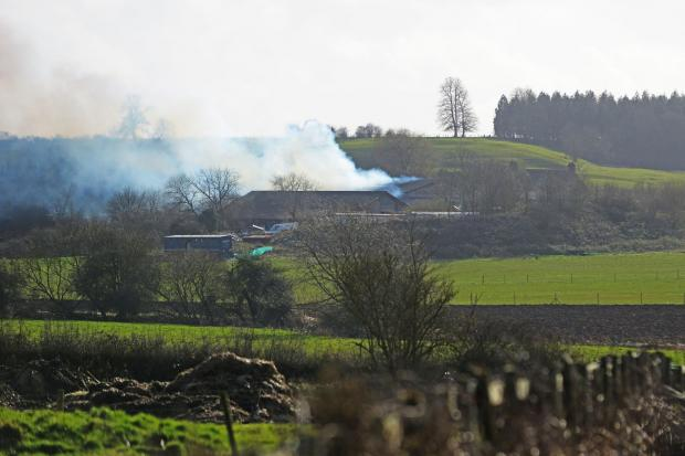 This Is Wiltshire: The fire on farmland in Royal Wootton Bassett