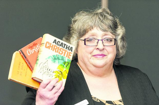 This Is Wiltshire: Lynda Warren, who gave a talk in the Central Library about Agatha Christie