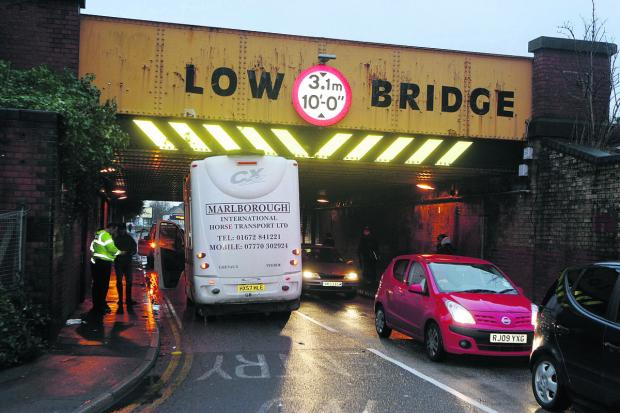 This Is Wiltshire: The scene under the Whitehouse Bridge, Swindon, yesterday afternoon. Picture: STUART HARRISON
