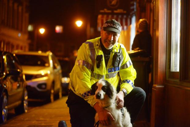 This Is Wiltshire: Passive drug alert dog Patch with handler PC Steve Duffy