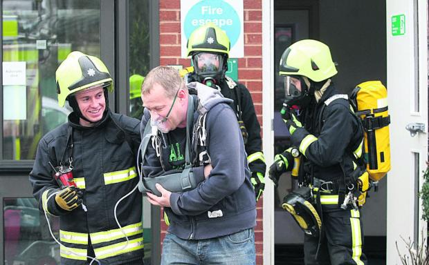 This Is Wiltshire: Fire service stages drill