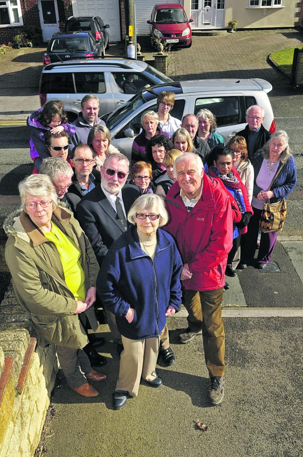 This Is Wiltshire: A group of residents in Wroughton who are campaigning against a developer's plans to build 103 homes